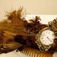 REAL CLOCK Bellydance Hairclip by SteamSociety