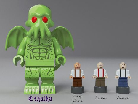 The Call of Cthulhu - Minifigures by Steam-HeART
