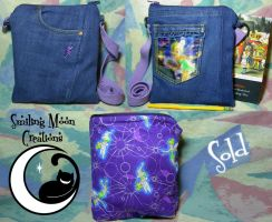 Tinkerbell Blue-Jeans Bag by SmilingMoonCreations