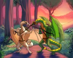 Riding Dragons by AkahitoTheDragon