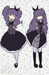Gothic Twins by OpalesquePrincess