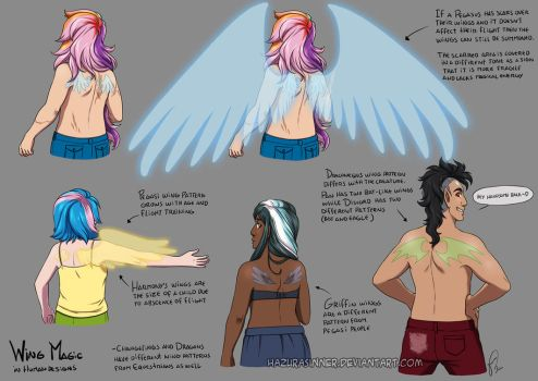 MLP Human Magic: Wings by HazuraSinner
