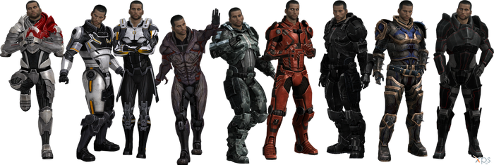 ME3 John Shepard Armors Set I (XPS) by SonYume