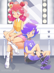 Ami and Yumi getting ready by ILOforma
