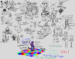 [sleep] Drunk [24hr stream] Doodles [+video] by Jenny2-point-0