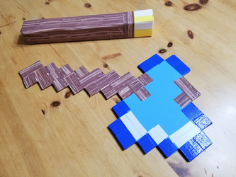 Minecraft Torch and Diamond Axe by Thastygliax