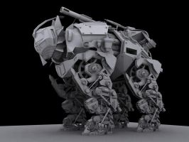 new mech WIP by 3dchris89