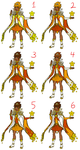 Star Guardian Taliyah Color Palettes by InkRose98
