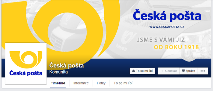 Ceska posta - Czech post - FB page by Ingnition