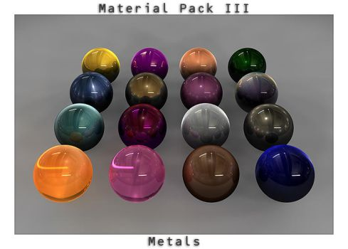 Material Pack 3 - Metals by TheUnlikedOne