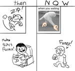 Funny thing (then vs now) by Rui0730