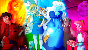 Adventure Time With Fionna and Cake by elliebeanz