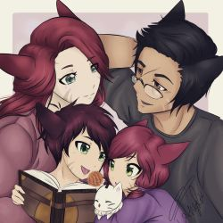 commission ff14: Miqote Family Colour by TheCookieClubx