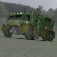 Sci Fi Truck in a Field by VanishingPointInc