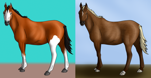 OPEN Adoptable Horses 20 Points by lionsilverwolf