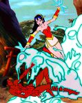 Spider Vixen and the Scarlet Dragon by JGalley0
