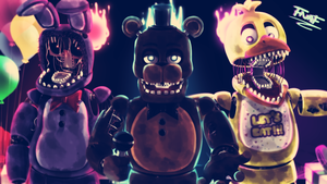 [FNAF SPEEDPAINT] THE WITHERED BAND by YumeChii-NI