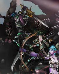 WotA Poster Zoom: Ravencrest and Jarod Shadowsong by Vaanel