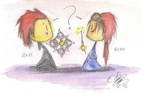 Axel and Reno by TheWritingBee