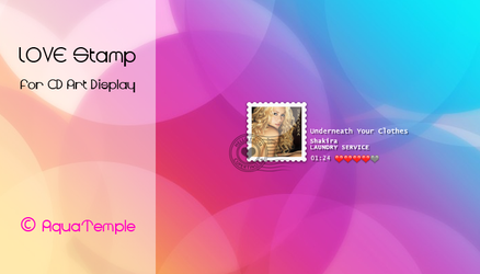 LOVE Stamp for CD Art Display by AquaTemple