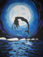Dancing with the moon. by ScribbledMoon