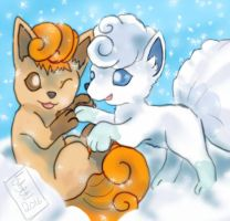 Fire and Ice by Vulpes-Canis