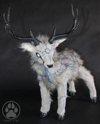 Olmec the Ancient Ice Stag poseable artdoll by CreaturesofNat