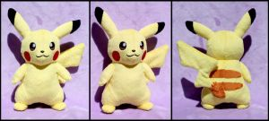 Pikachu Plush by OhThePlushabilities