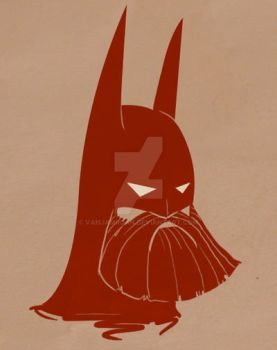 Bearded: Batman by Vanjamrgan