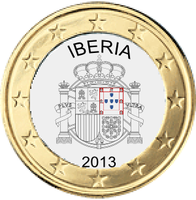 Iberian coin 1 euro (without Gibraltar) by hosmich