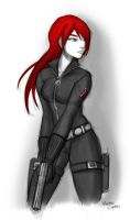 Black Widow sketch by mell0w-m1nded