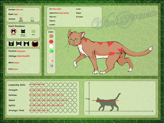 Refrence Sheet: CherryPaw by Oak-Storm