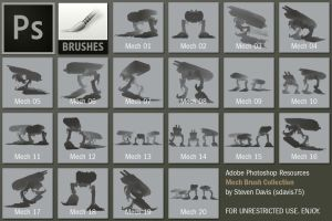 Photoshop Mech Brushes by sdavis75