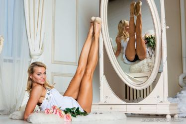 Reflection of Long Lovely Legs - Cheerleader - LE by LegsEmporium