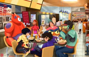 Big Hero 6 Shawarma by DominicDrawsArt