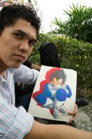 ME AND MY DRAWING OF VEGETA!!!!! by MUERTITO69