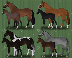 Mare and Foal (with lineage) Auction - ALL GONE by xxElanite