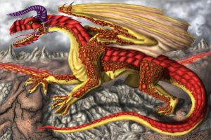 Golden dragon by Wicher91