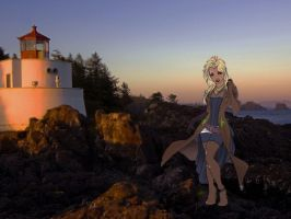 Oceana by a lighthouse by GolfingQueen
