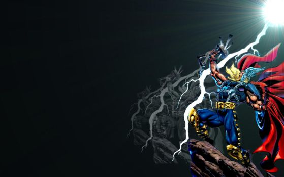 Thor Widescreen Wallpaper by brianmccumber