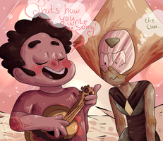 SU| Steven teaching Peridot how to write a song by Toaster-a