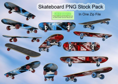 Skateboard PNG Stock by Roy3D