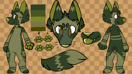 Green Dog Adopt Auction (CLOSED) by MommaShepy