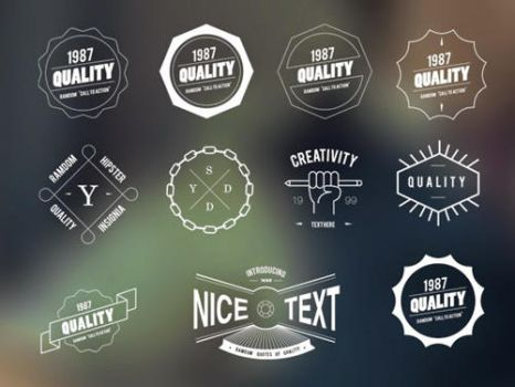 Free Vector Hipster Vintage Badges and Insignias by Designslots