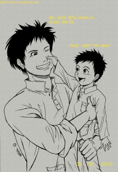 Dad and Son by F-one-R