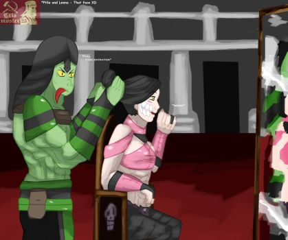 Reptile and Mileena - Moments by Crismoster25