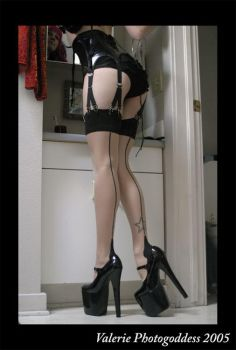 Stockings and Shoes, Ms. Easy by photogoddess