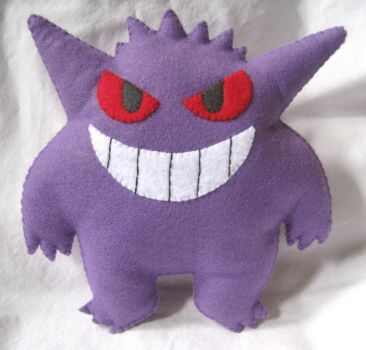 Gengar Plush by P-isfor-Plushes