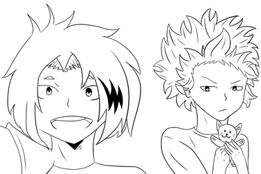Denki And Shinsou WIP by nellydrawings