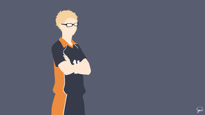 Tsukishima Kei (Haikyuu!!) Minimalist Wallpaper by greenmapple17
